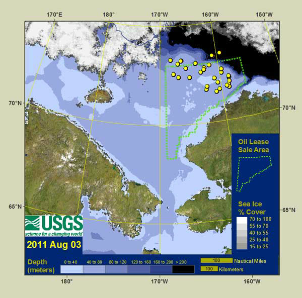 Migration Path of Alaskan Walrus