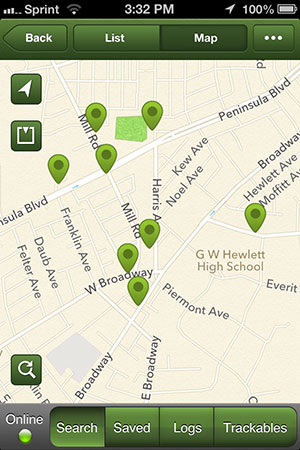 All the geocaches near where we live