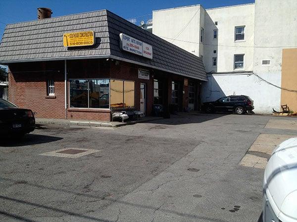 The deserted auto body shop