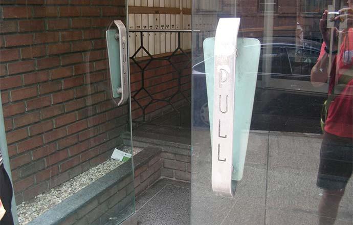 Door handles are affordances