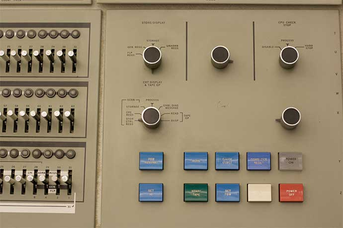 IBM 360 Model 91 Computer Control Panel