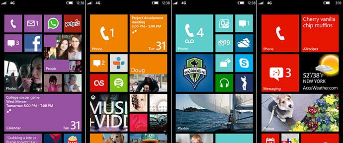 Windows Phone Sample Screens