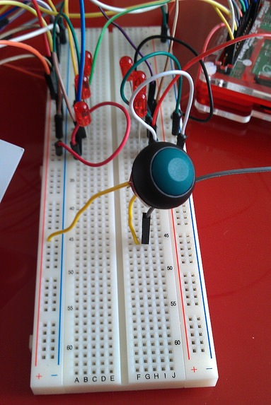 Push Button Connected to Breadboard