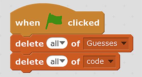 Add Delete Blocks To When Green Flag Clicked Block