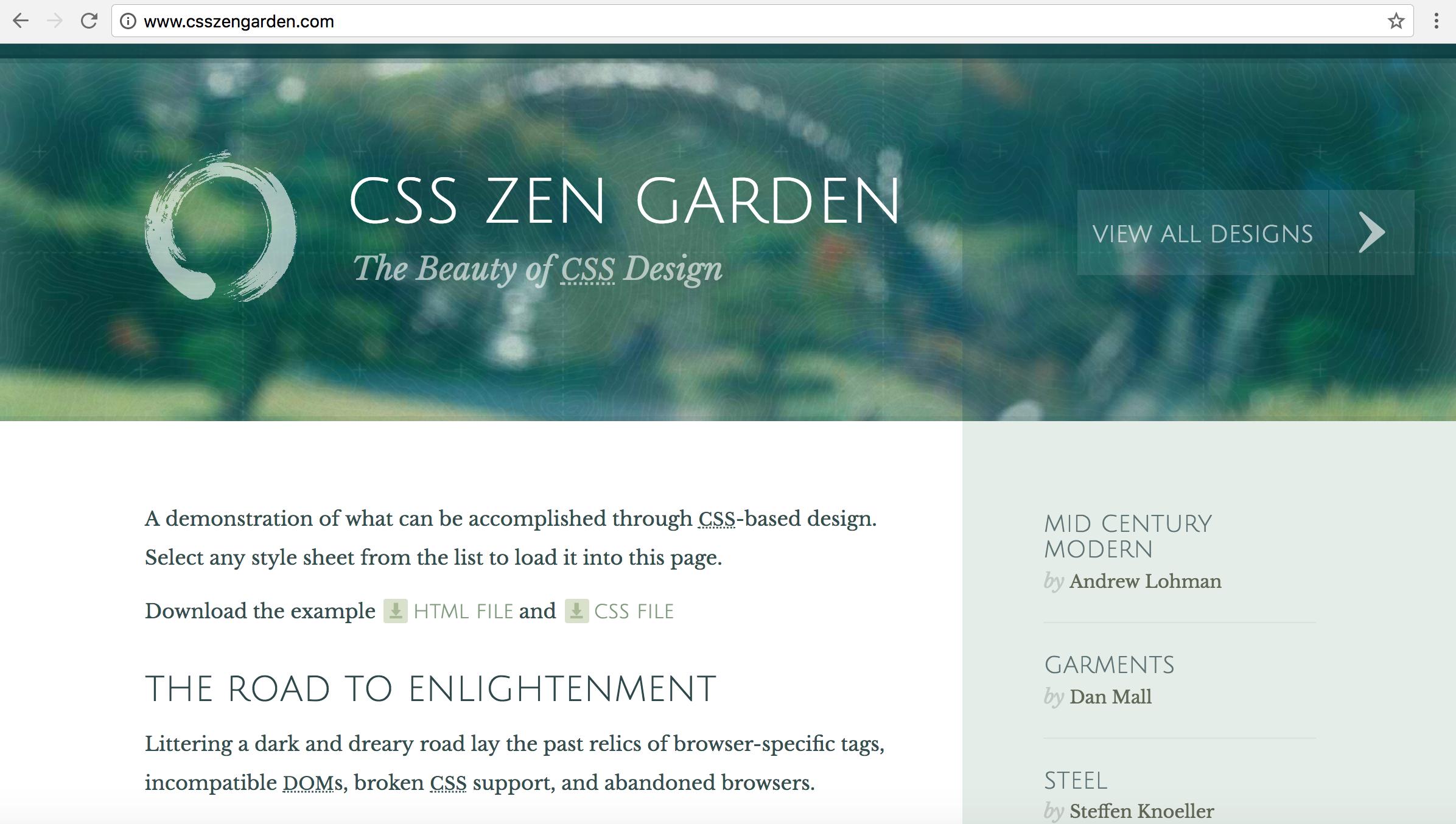 setup - Css Zen Garden